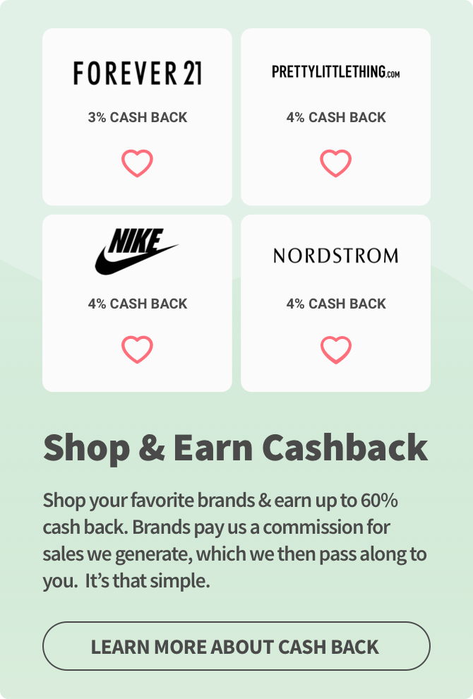 Shop & Earn Cashback